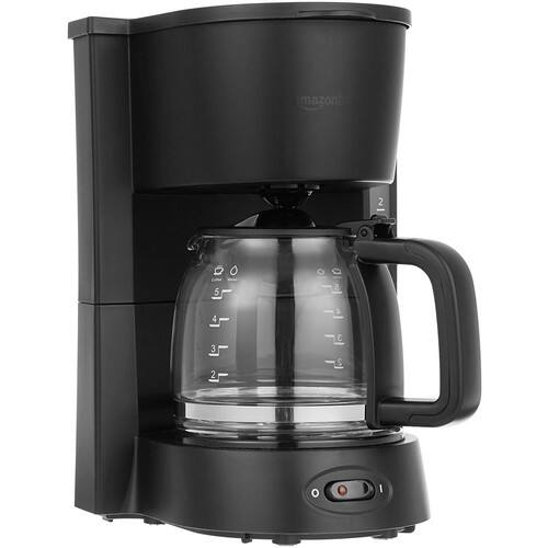 AmazonBasics 5-Cup Coffeemaker with Glass Carafe $13.27 FS w/ Prime @Amazon