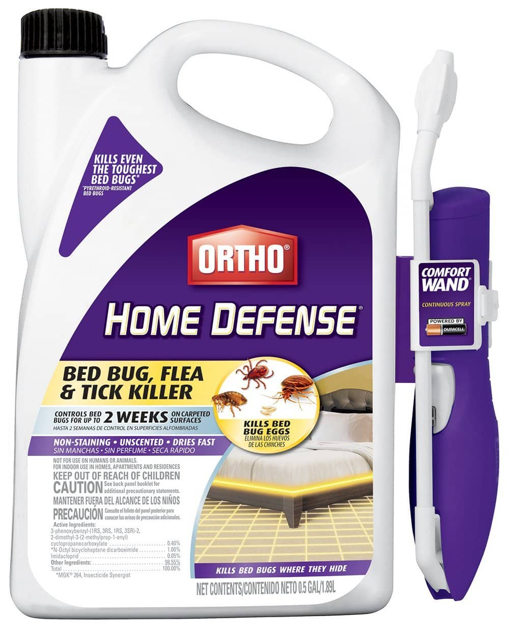Ortho Home Defense Max Bed Bug, Flea and Tick Killer 0.5 Gal/1.89L $11.22 FS w/ Prime @Amazon
