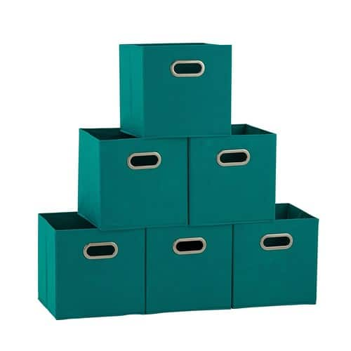Deal Image  sc 1 st  Slickdeals & 6-Pack Household Essentials Foldable Fabric Storage Bins (Aqua ...