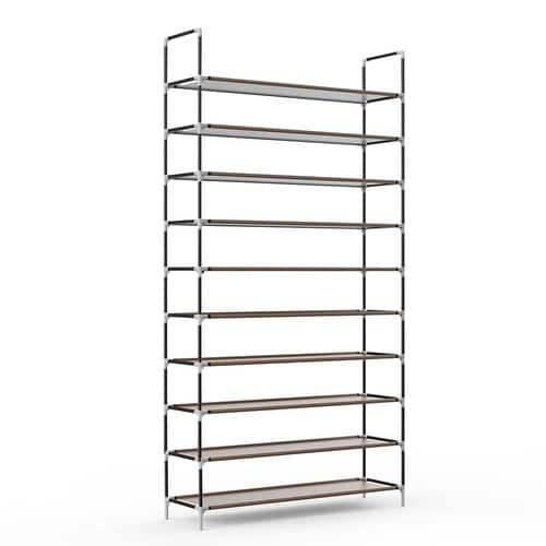 Sable 10 Tiers 50 Pairs Shoe Rack $20.99 FS w/ Prime @Amazon $20.97