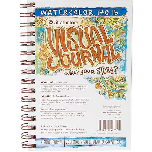"Strathmore Visual Journal Spiral Bound 5.5""X8""-140# Watercolor $5.92 FS w/ Prime @Amazon"
