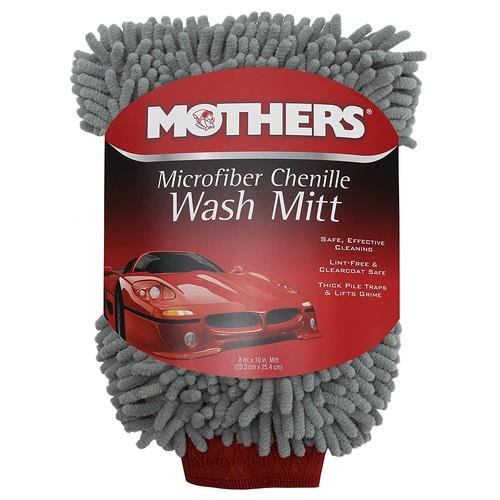 Mothers Premium Chenille Car Wash Mitt - Scratch & Lint Free [Gray Chenille] $4.29 FS w/ Prime @Amazon
