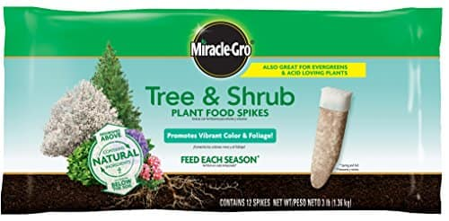 Miracle-Gro Tree & Shrub Fertilizer Spikes - 12 PK $6.97 FS w/ Prime @Amazon