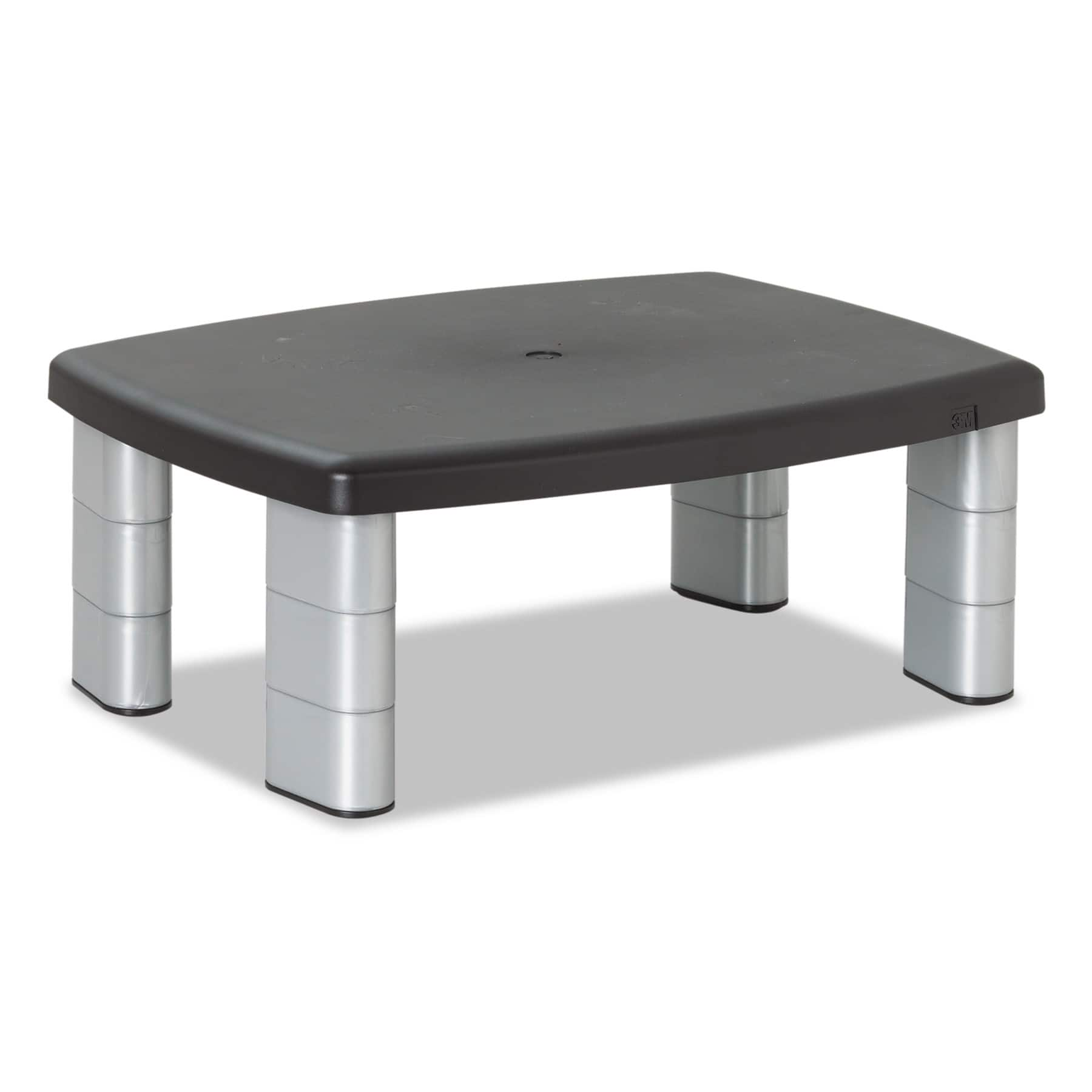 3M Adjustable Height Monitor Stand, 15 x 12 x 2 5/8 to 5 7/8, Black/Silver $20.7 FS w/ Prime @Amazon