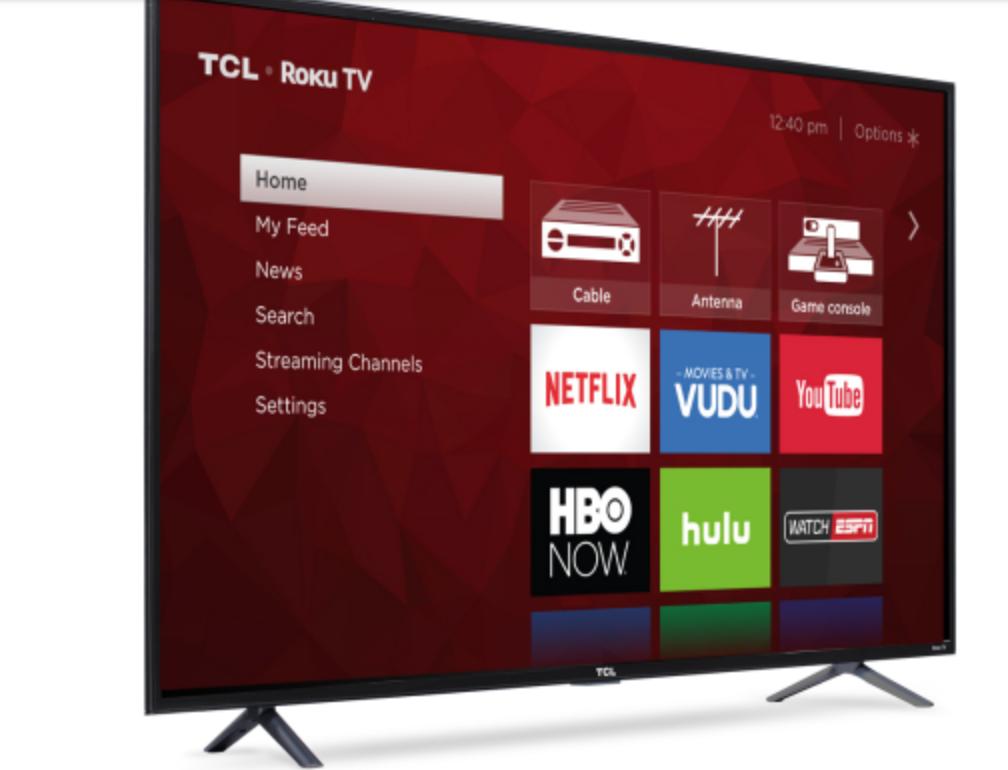 "TCL 65"" 4K Smart Roku TV Model# 65S401, Walmart $698"