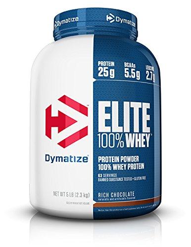 Dymatize Elite 100% Whey 5lb (2.3kg) Rich Chocolate - $32.54 (w/ S&S + Free S/H)