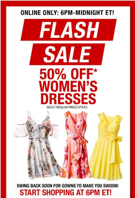 8cee78f4a08f8 YMMV Macy's Flash Sale Staring 6 PM ET Today - Email Offer - 50% Off ...