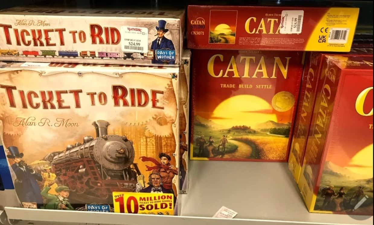 Catan and Ticket to Ride - $24.99  and More Board Game @TJMaxx & Marshalls - In Store