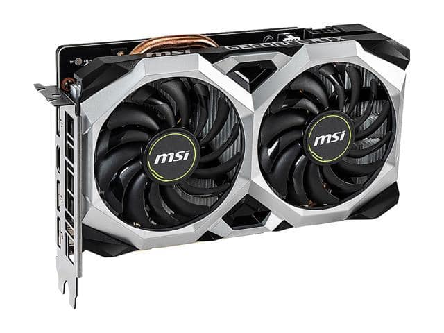 MSI GeForce RTX 2060 DirectX 12 RTX 2060 VENTUS XS 6G OC 6GB 192-Bit GDDR6 PCI Express 3.0 x16 HDCP Ready Video Card $329.99
