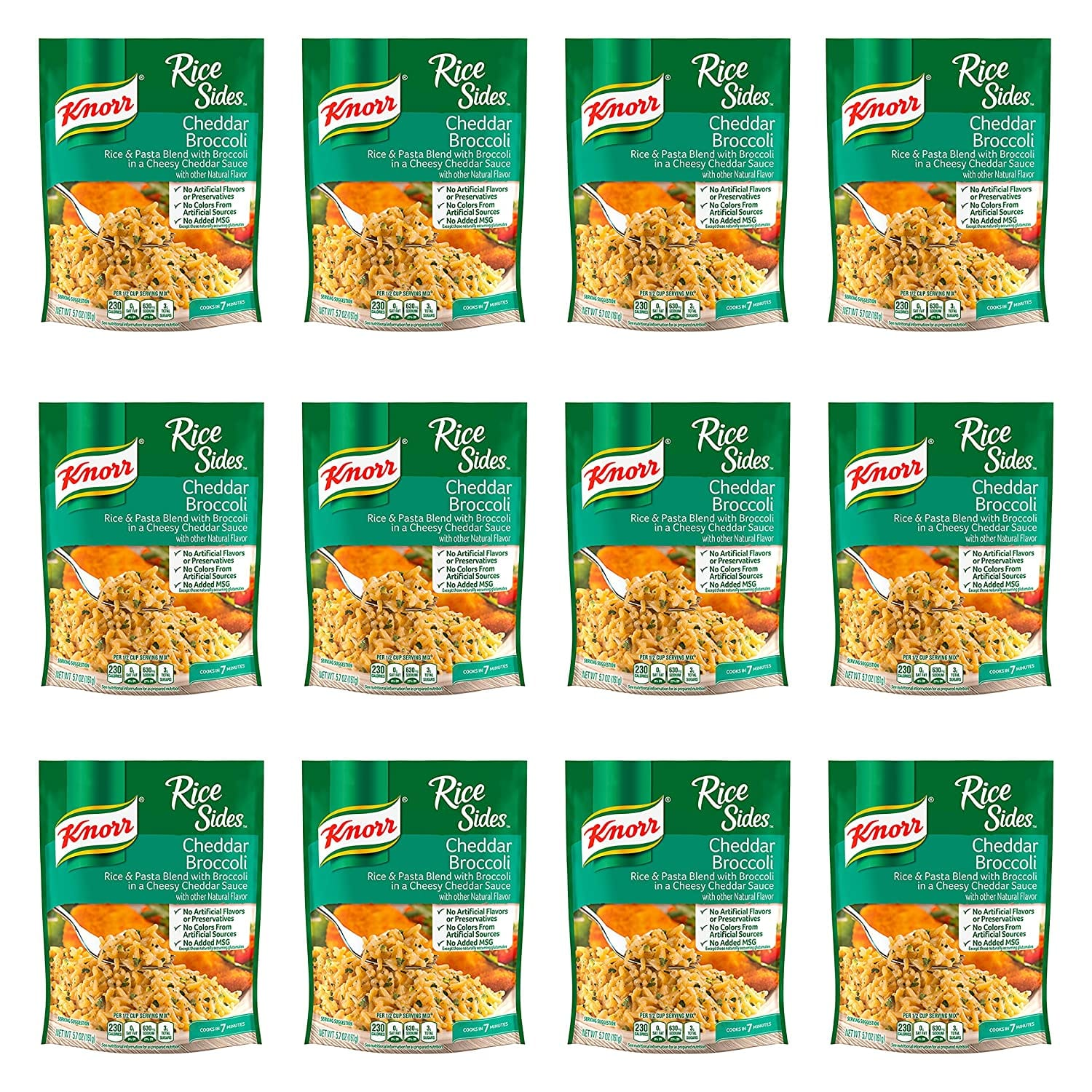 Knorr Rice Sides for a Delicious Easy Meal Cheddar Broccoli No Artificial Flavors 5.7 oz, Pack of 12 $10.2
