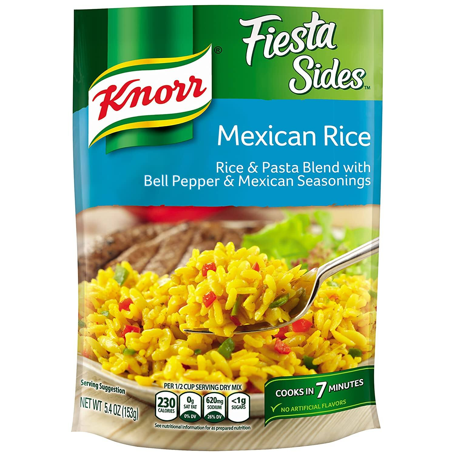 Knorr Fiesta Sides Rice Side Dish, Mexican Rice, 5.4 Ounce, (Pack of 8) $7.52