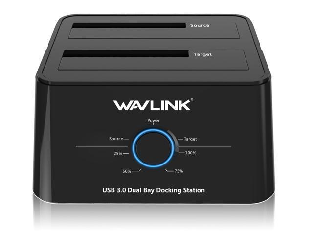 "Wavlink Hard Drive Docking Station - USB 3.0 to SATA Dual Bay Docking Station for 2.5"" & 3.5"" HDD/SSD SATA I/II/III $25.99"