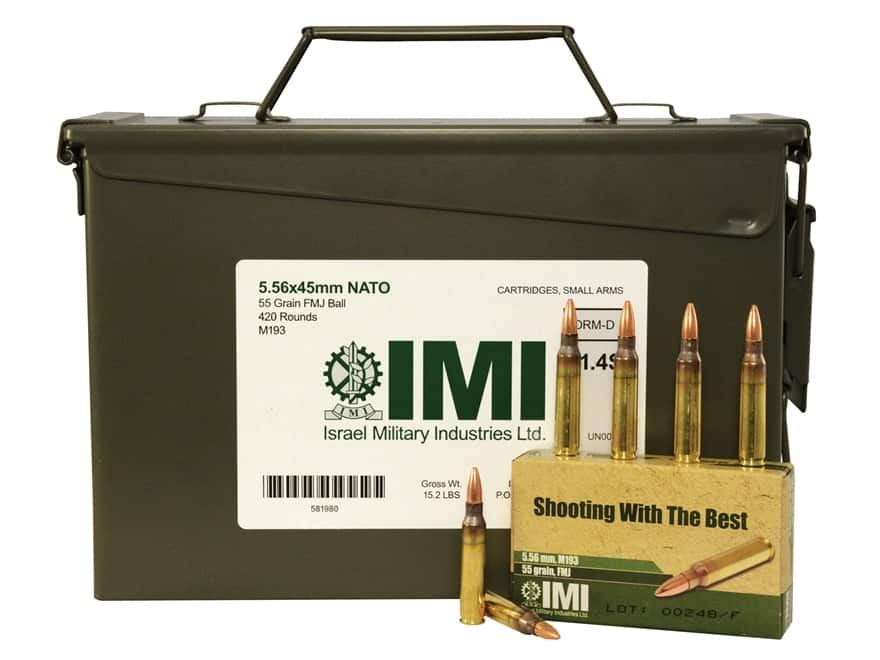 IMI 5.56 M193 Ammo Can of 420 rounds $99.99 + s/h (~$0.24 round)