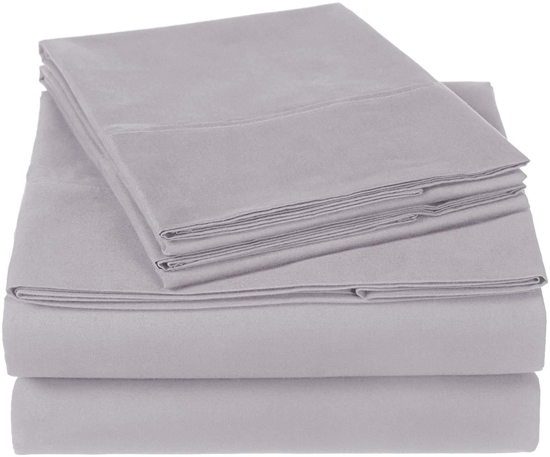 Pinzon 300 Thread Count Organic Cotton Sheet Set - Queen, Dove Grey for $19.99 on Amazon