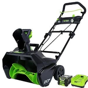 """20"""" GreenWorks Pro 80V Snow Thrower w/ 2Ah Battery & Charger on Amazon for $266.59 +Free shipping"""
