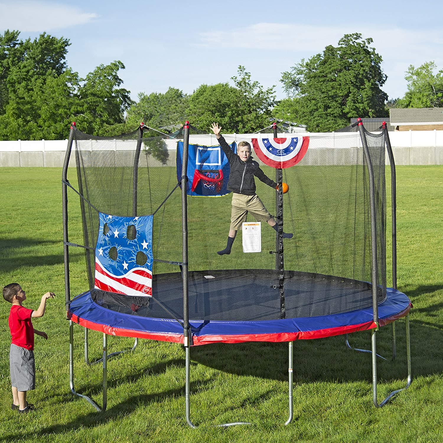 Skywalker Trampolines 12-Foot Basketball Trampoline with Enclosure Net  159.99 $159.99