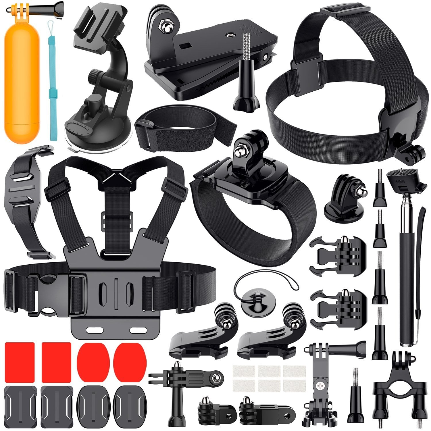 Outdoor Sports Combo Kit 40 accessories for GoPro HERO and other Action cameras $8.49 Free ship for PRIME @ Amazon