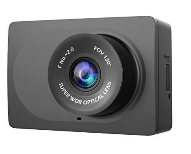 "YI Compact Dash Cam, 1080p 2.7"" LCD Screen, 130° WDR Lens, G-Sensor, Night Vision, Loop Recording @ $29.99 + Free ship @ AMAZON"