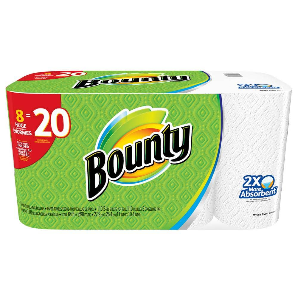 Bounty Paper Towels 8 HUGE rolls Home Depot in store only Today/Friday ONLY $11.97