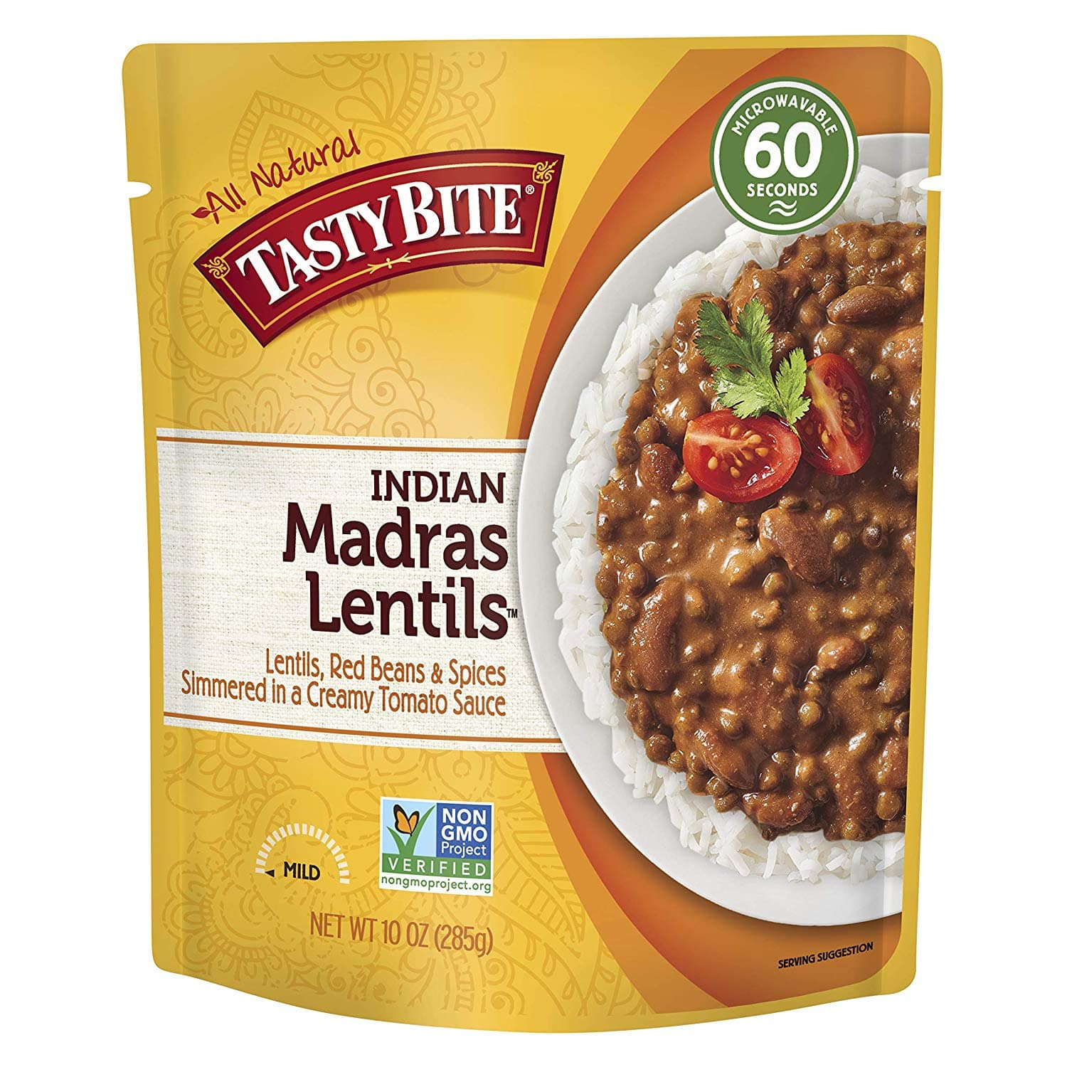 6-Pack of 10-Oz Tasty Bite Indian Entree Madras Lentils $6.75 w/ S&S + Free S&H