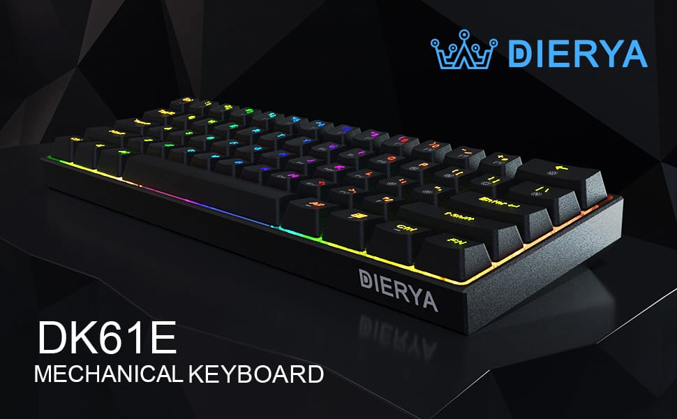 60% Dierya x Kemove keyboard RGB, gateron yellow optical switches (opto-mechanical)- $56.99, silver at $47.99, others $44.49