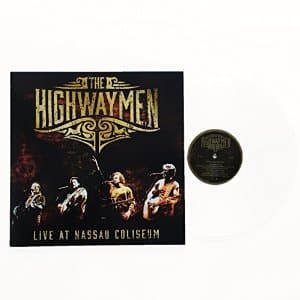 The Highwaymen Live at Nassau Coliseum on clear Vinyl Record $7.58