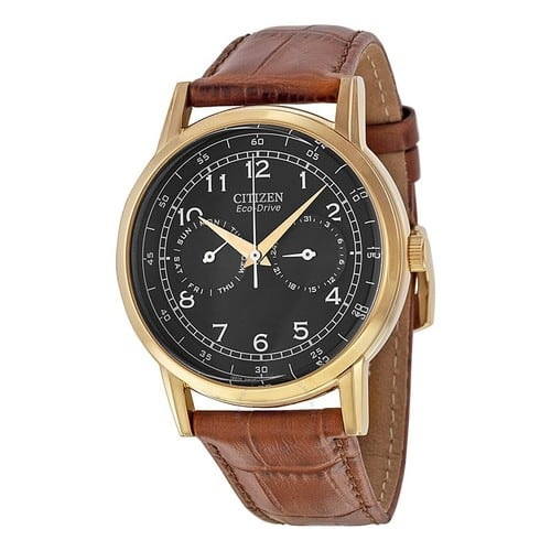 Citizen Men's AO9003-08E Rose Gold-Tone Stainless Steel Eco-Drive Watch with Leather Band - $104.96 @ Amazon.com
