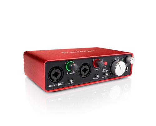 Focusrite Scarlett 2i2 (2nd Gen) Scarlett 2i2 MKII Interface - $119.99 w/FS @ ProStarAudio via eBay (full warranty)