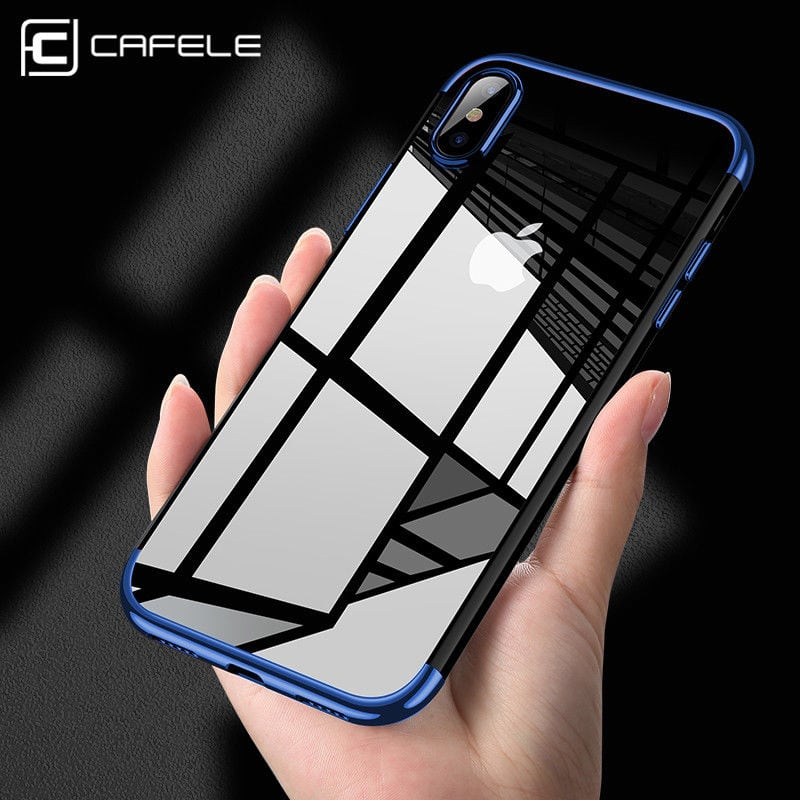 For iPhone X Edition Case Electroplate Clear Soft TPU Hybrid Slim Cover CAFELS $2.99 + fs