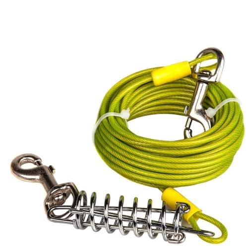 Lightning Deal - Tie Out Cable for Dogs, 30-feet, 6 Colors  for $6.79+