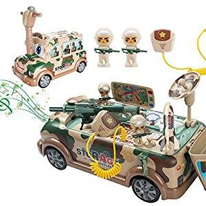 Kids Play Vehicle Toy Christmas Gift for Boy Age 2,3,4,5 with Sound and Music Pretend Play Military $49.99