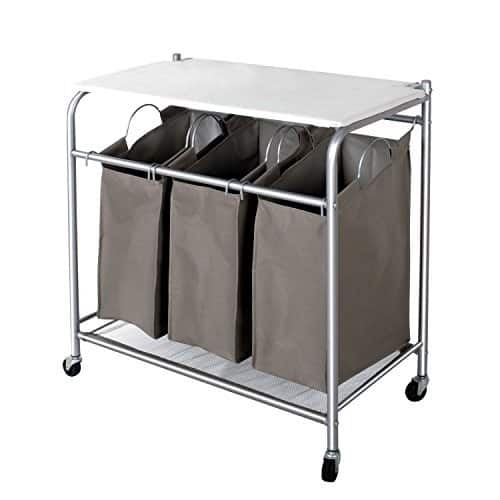 3 Lift-off Bags Laundry Sorter with Foldable Ironing Board $39.39 AC