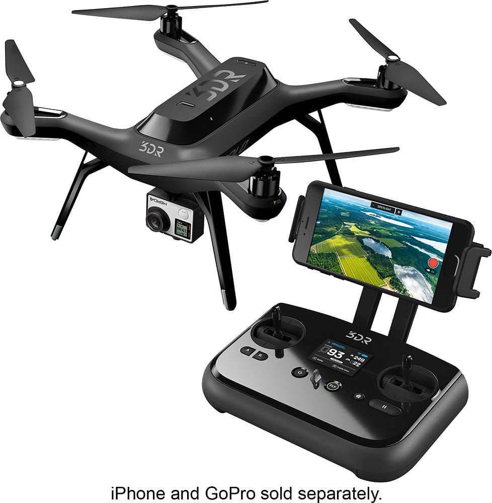 3DR Solo Drone Bundle (gopro gimbal, extra battery & propellers) @ Best Buy, new low price $379