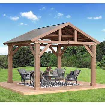 14' x 12' Cedar Pavilion with Aluminum Roof ($1,299 if you pick up) $1299.99