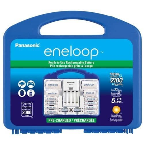 Panasonic KJ17MCC82A Eneloop Power Pack for 8AA, 2AAA, 2 C Spacers, 2 D Spacers, Advanced Individual Battery Charger [Power Pack] $19.99