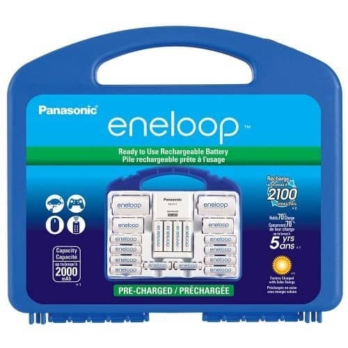 Panasonic K-KJ17MC124A Eneloop Super Power Pack for 12AA, 4AAA, 2 C Spacers, 2 D Spacers, Advanced Individual Battery Charger  $34.88 @Amazon