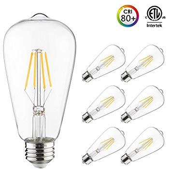 ST64 6-pack LED Filament Bulb,40W Equivalent Otronics LED Antique Vintage Edison Bulb 2700K&5000K - $9.49@Amazon