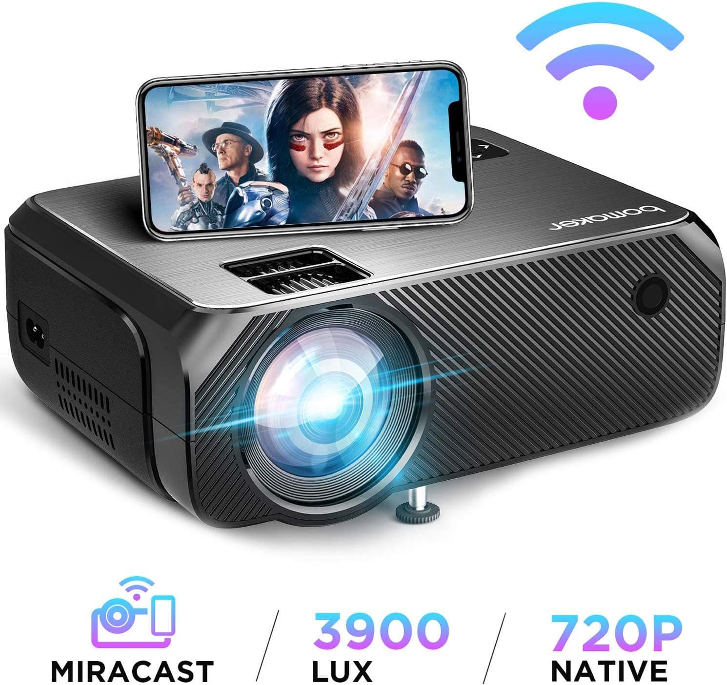 Wireless Screen Mirroring and Cast Screen TV Projector $90.98 at Amazon