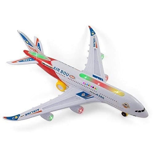 Bump And Go Electric Air A380 Kids Action Airplane - Lightning Deal $14.99 + F/S Prime