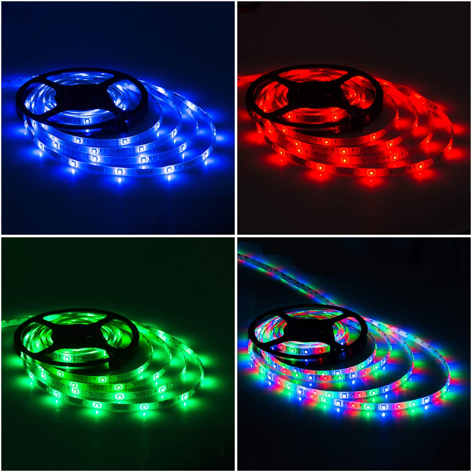 LED light strip with remote controller and power supply for $15.99