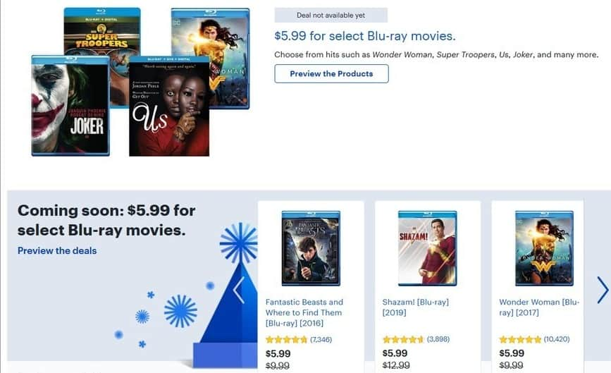 Best Buy Black Friday Select Blu Rays Wonder Woman Super Troopers Us Joker Shazam And Many More For 5 99