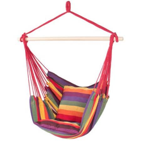 Hammock Hanging Rope Chair Porch Swing Seat Patio Camping Portable Red Stripe $27.99 + Free Shipping