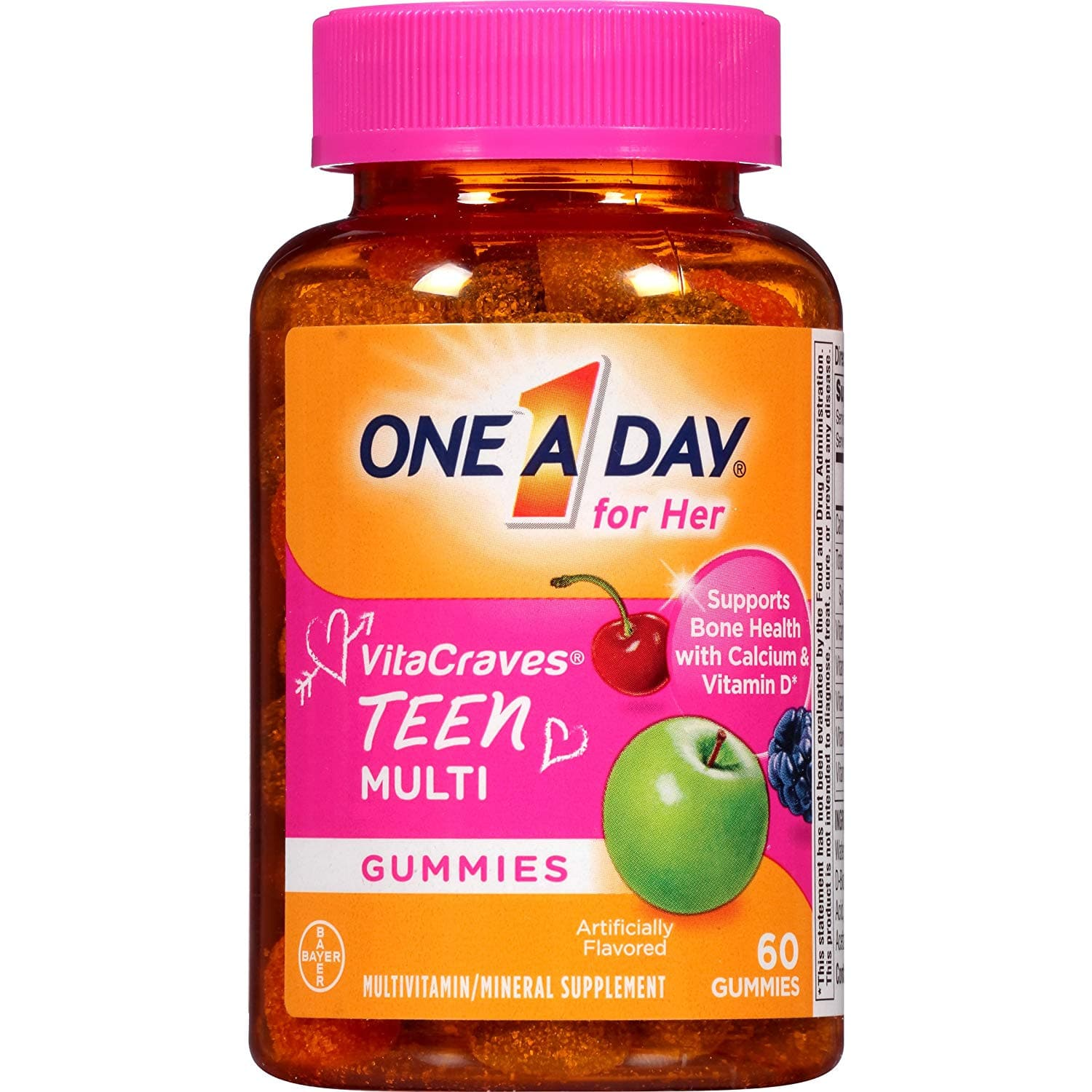 One A Day VitaCraves Teen for Her, 60 ct $3.26