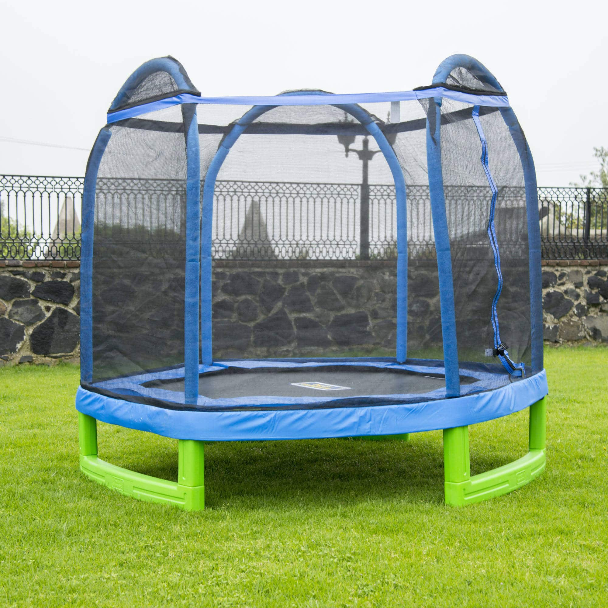 Bounce Pro 7-Foot My First Trampoline Hexagon (Ages 3-10) for Kids, Blue/Green $129.98 + FS