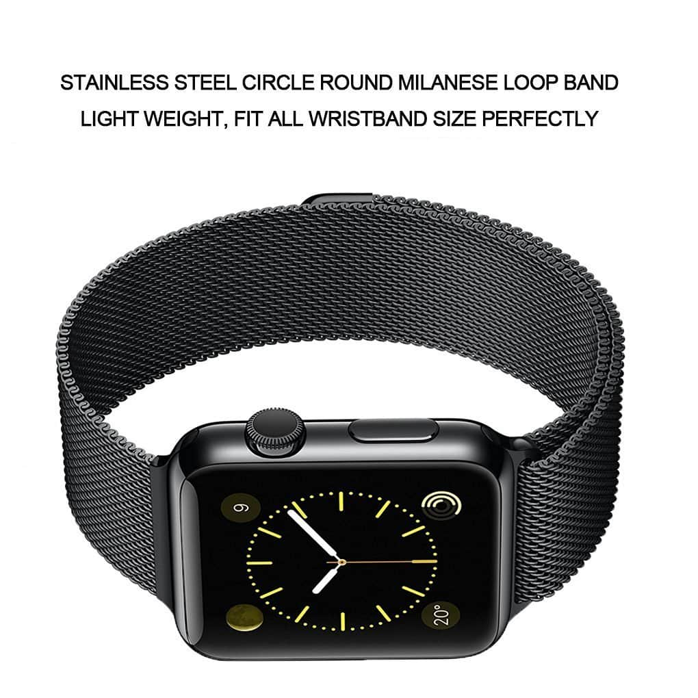 Apple Watch Band 42mm and 38mm iKeen Milanese Loop Magnetic Closure Stainless Steel iWatch Band for Apple Watch $4.88 and up + free ship