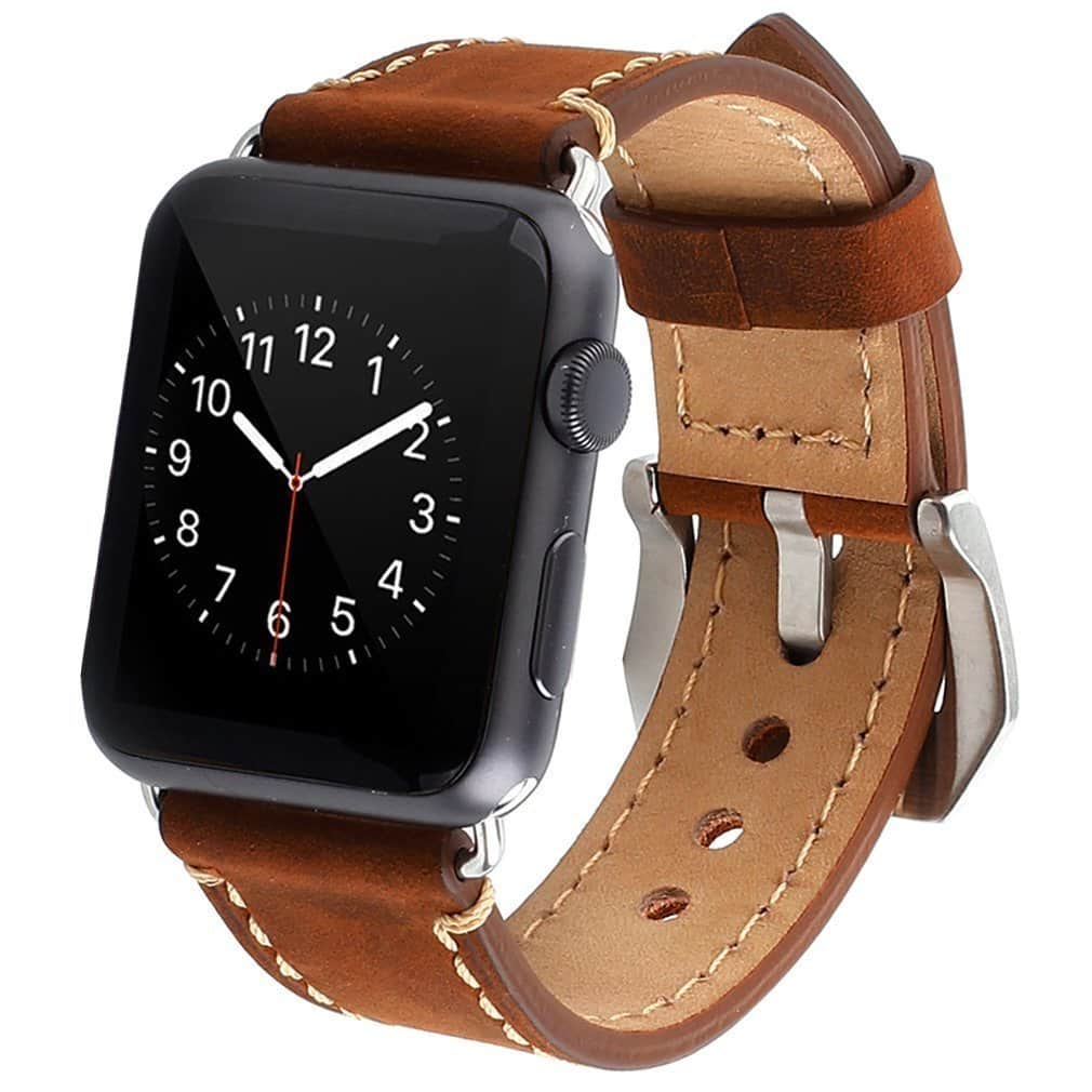 Apple 42mm iWatch Band Leather Watchband Dark Brown $6.99