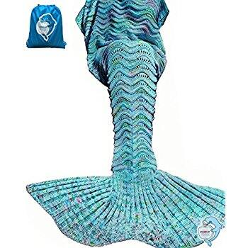Mermaid Tail Blanket 74x35 mint $13.22 free ship with prime