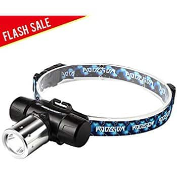 Headlamp Cree LED Waterproof with 18650 Rechargeable Batteries $7.59
