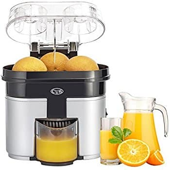 90W Double Orange Citrus Juicer with Pulp Separator Whisper and Built-in Slicer $26.21 Free ship with amazon prime