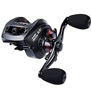 9.3:1 Baitcasting Fishing Reel with Carbon Fiber Drag $48.98 with free prime shipping